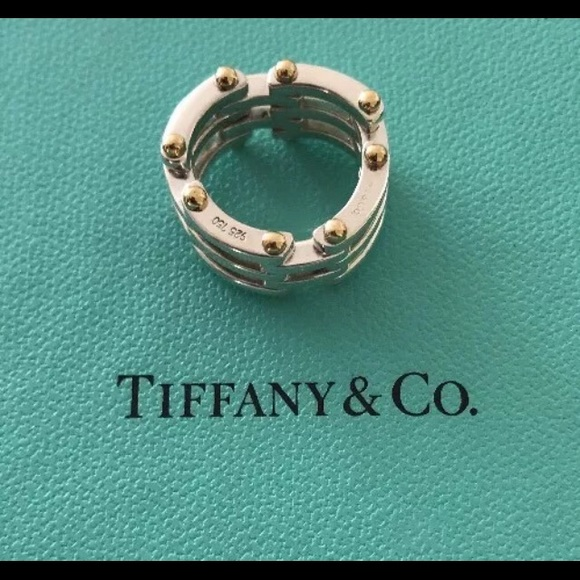 e923c1dd2 Tiffany & Co. Jewelry | Tiffany Co Gate Link Silver And 17k Gold ...